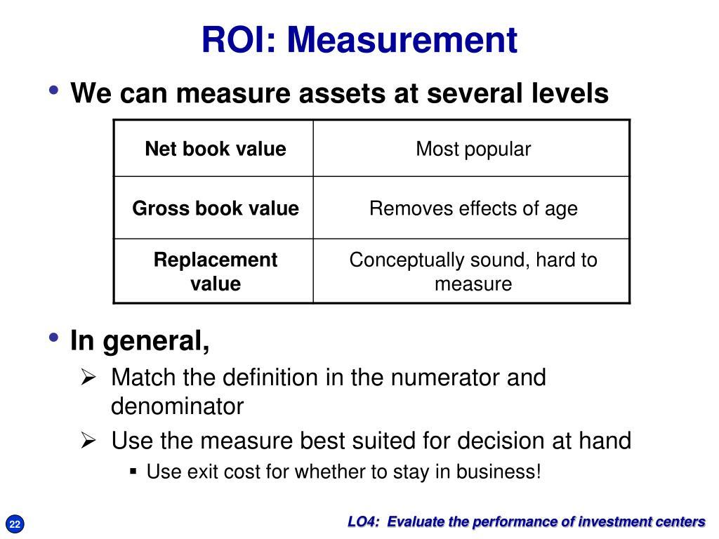 ROI: Measurement