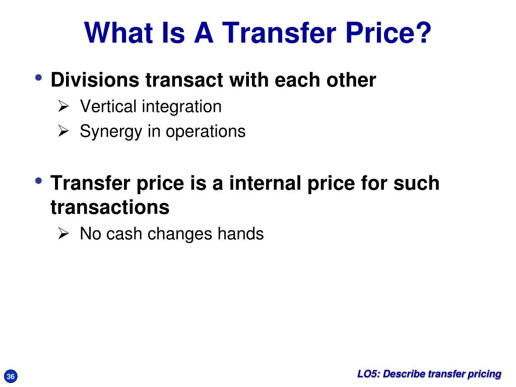 Divisions transact with each other