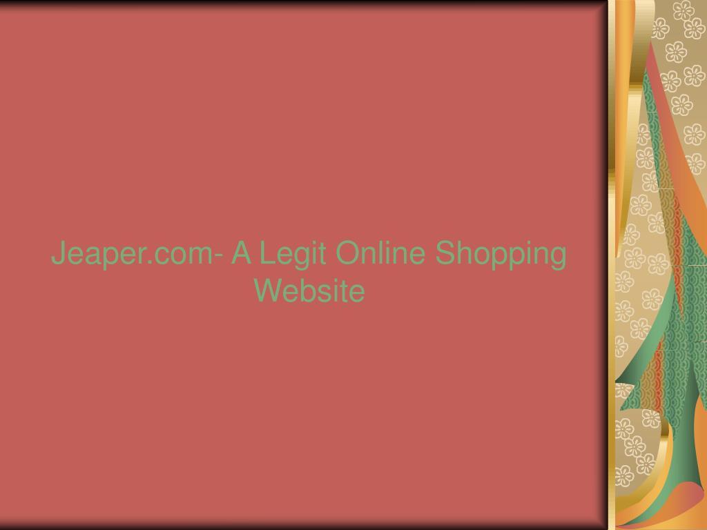 Jeaper.com- A Legit Online Shopping Website