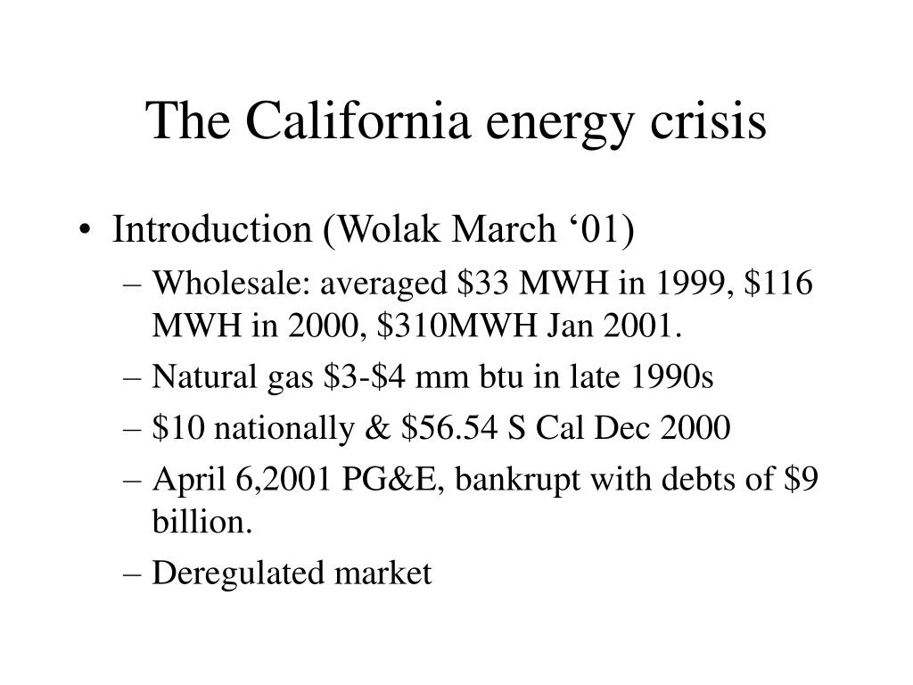 The California energy crisis