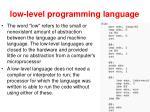 low level programming language