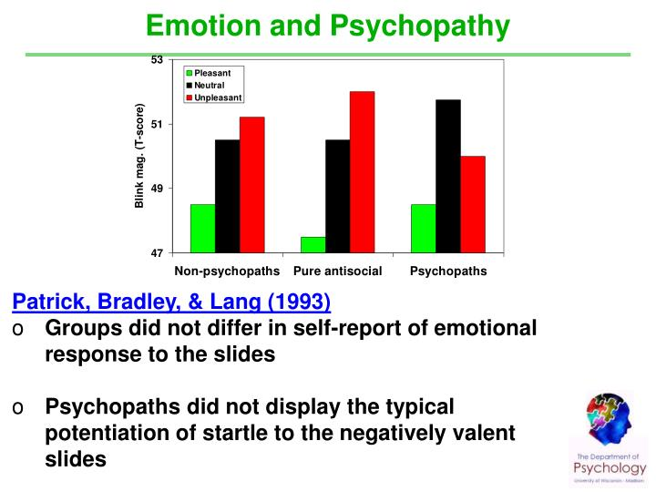 Emotion and Psychopathy