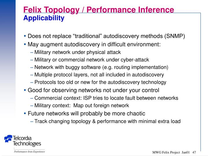 Felix Topology / Performance Inference