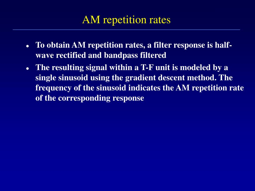 AM repetition rates