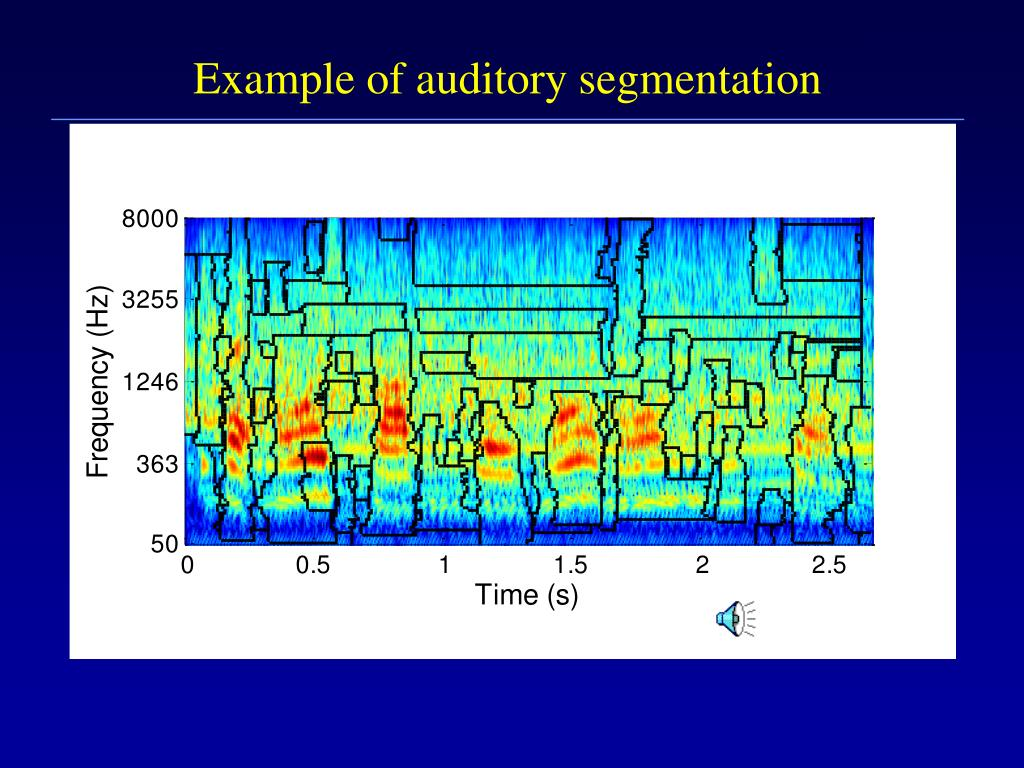 Example of auditory segmentation