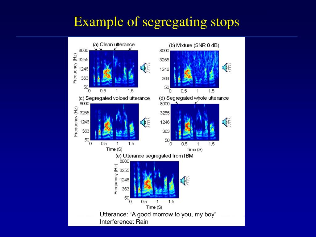 Example of segregating stops