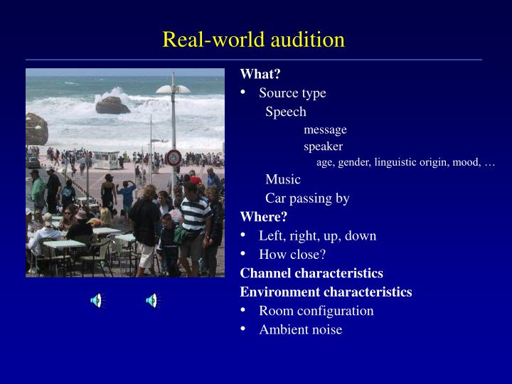 Real world audition