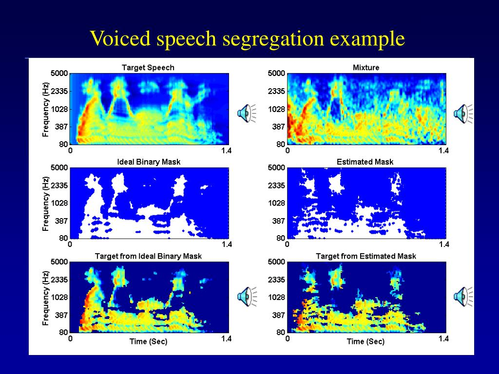 Voiced speech segregation example