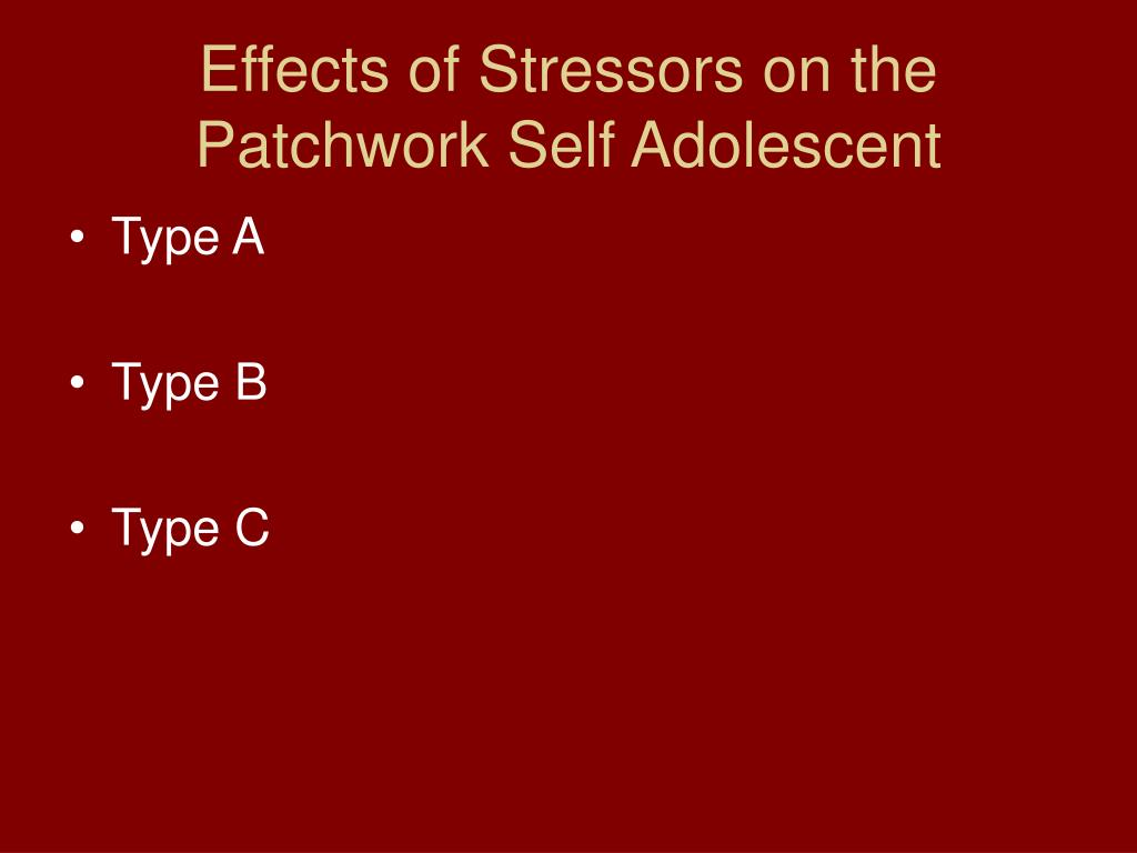 Effects of Stressors on the Patchwork Self Adolescent