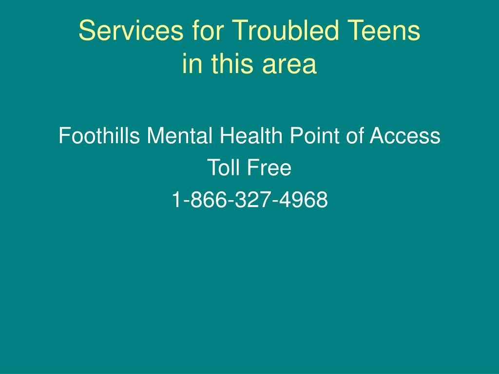 Services for Troubled Teens