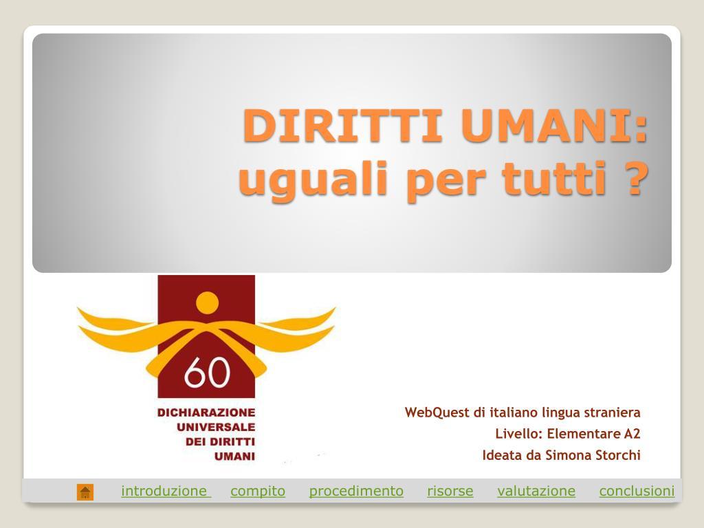 DIRITTI UMANI: