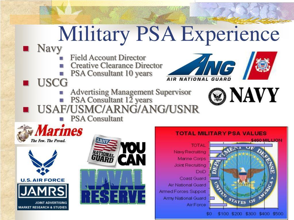 Military PSA Experience