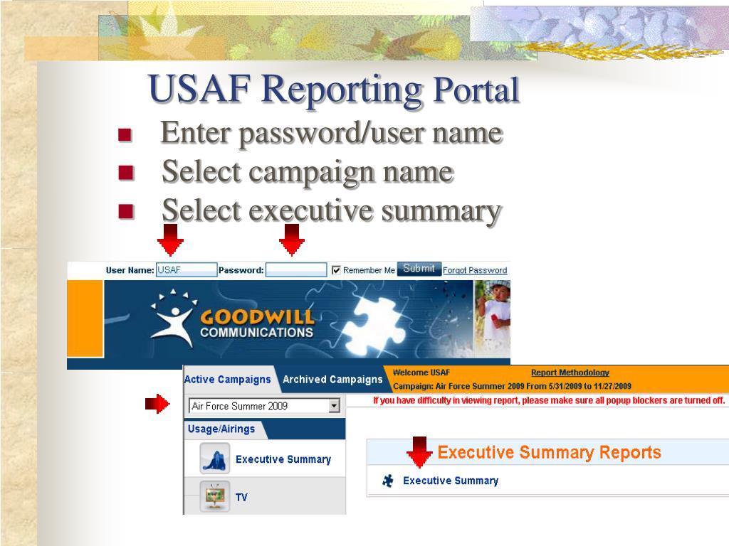 USAF Reporting
