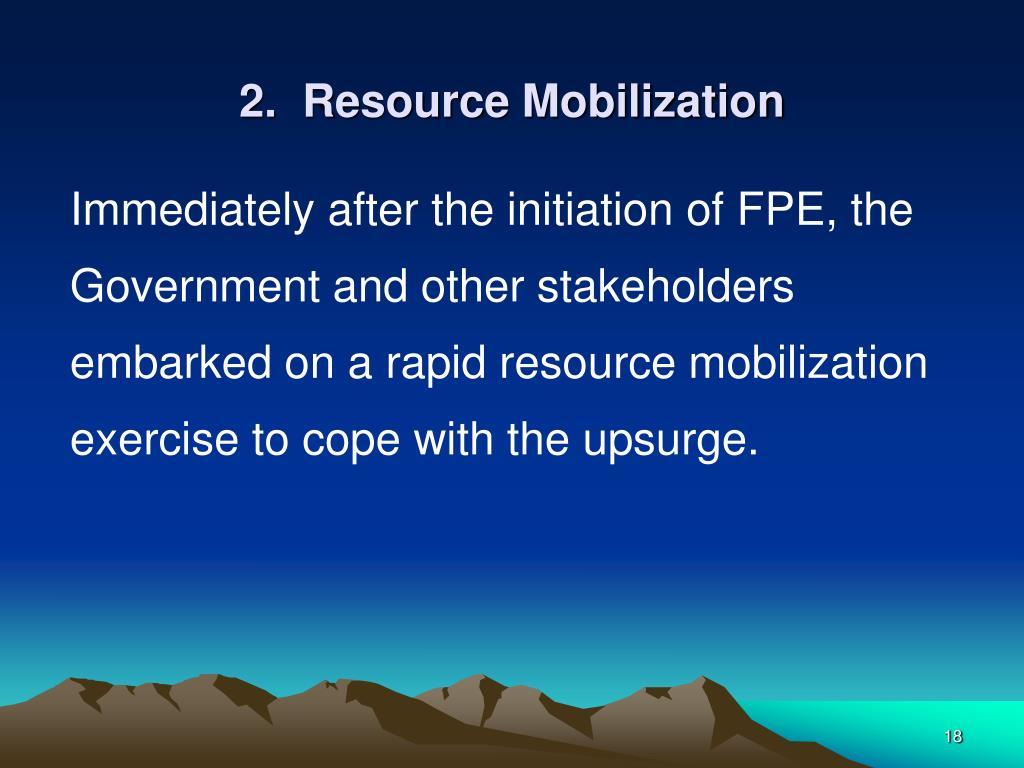 2.  Resource Mobilization