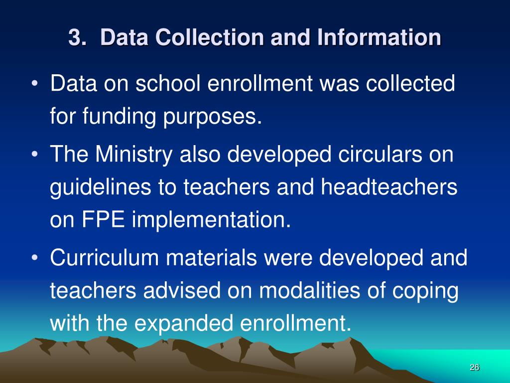 3.  Data Collection and Information