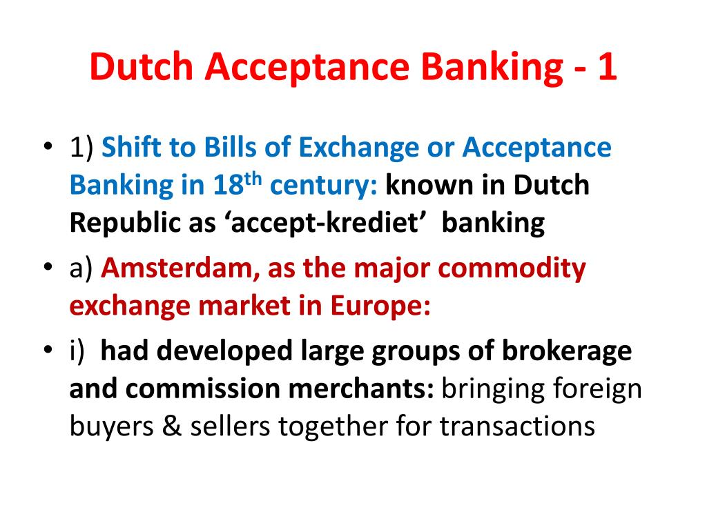 Dutch Acceptance Banking - 1