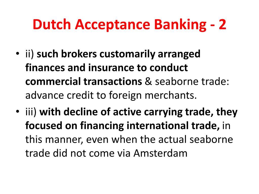 Dutch Acceptance Banking - 2