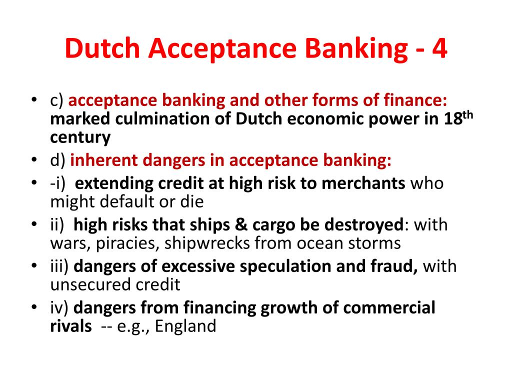 Dutch Acceptance Banking - 4