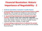 financial revolution historic importance of negotiability 2