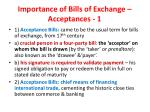 importance of bills of exchange acceptances 1