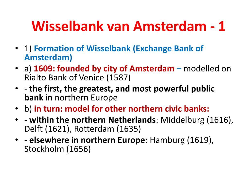 Wisselbank van Amsterdam - 1
