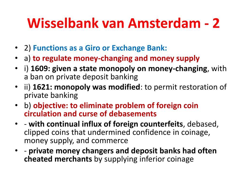 Wisselbank van Amsterdam - 2