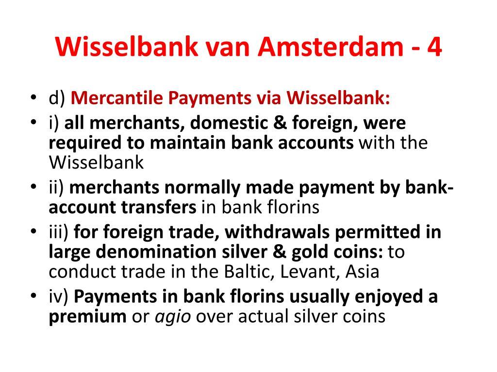 Wisselbank van Amsterdam - 4