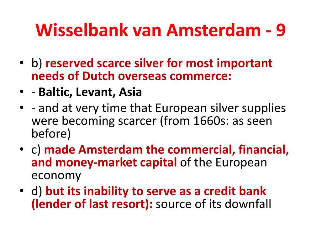 Wisselbank van Amsterdam - 9