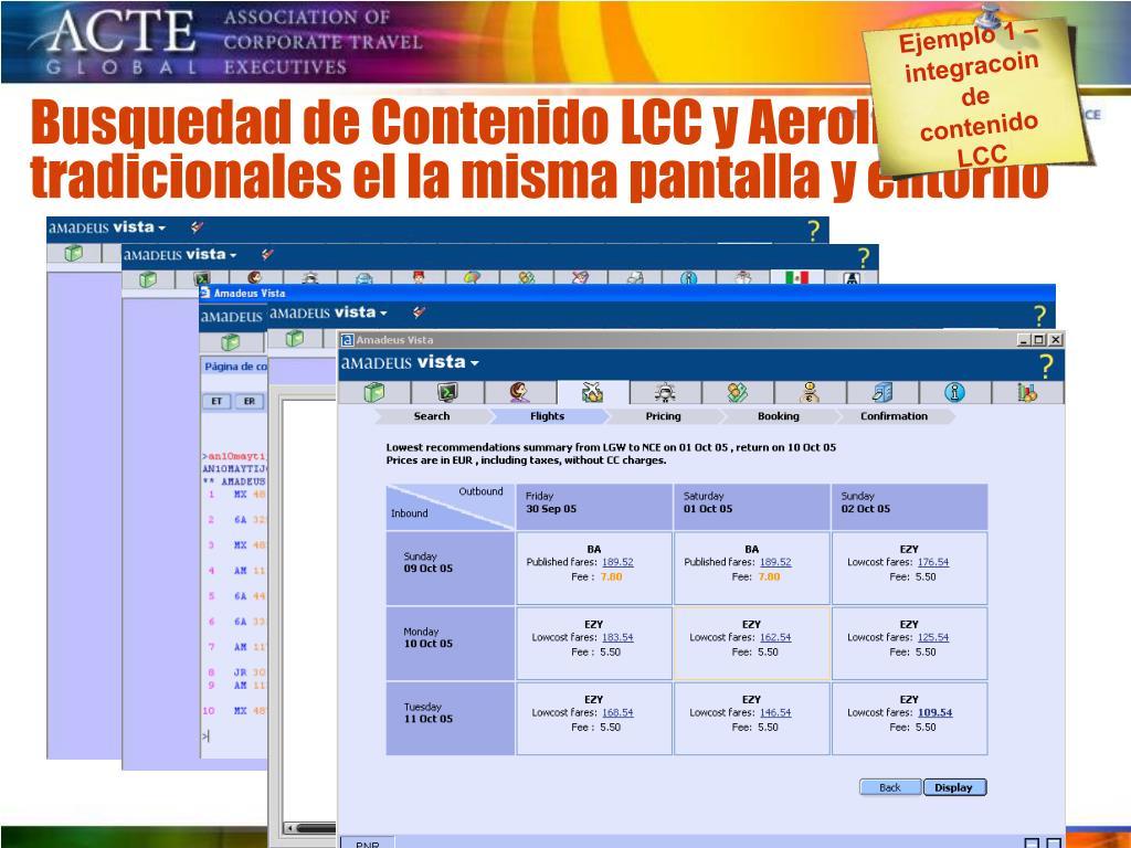Ejemplo 1 – integracoin de contenido LCC