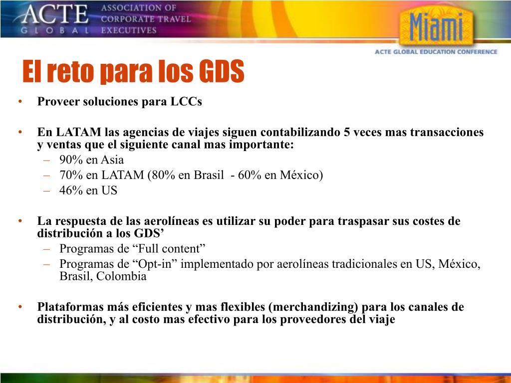 El reto para los GDS