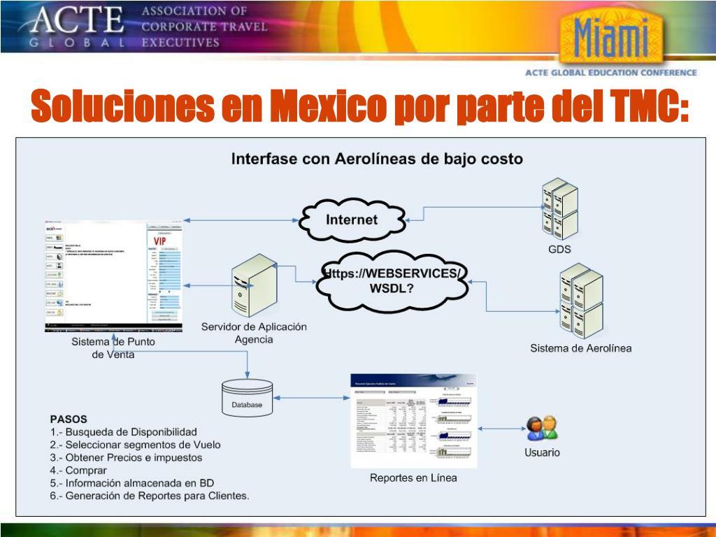 Soluciones en Mexico por parte del TMC