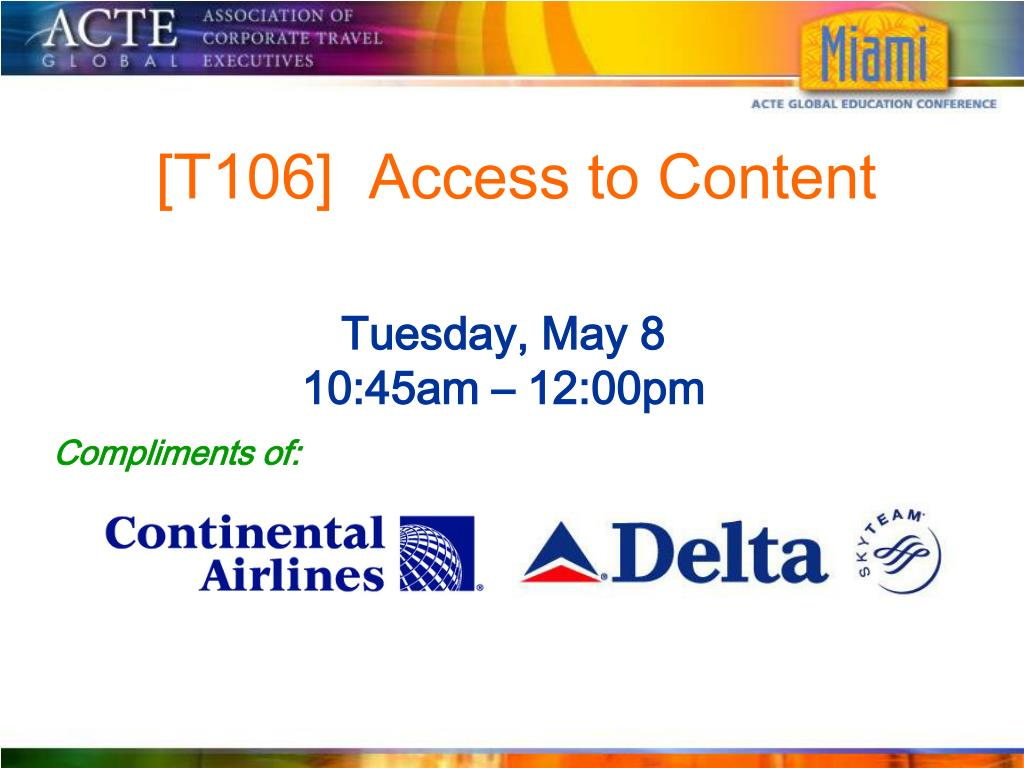 [T106]  Access to Content