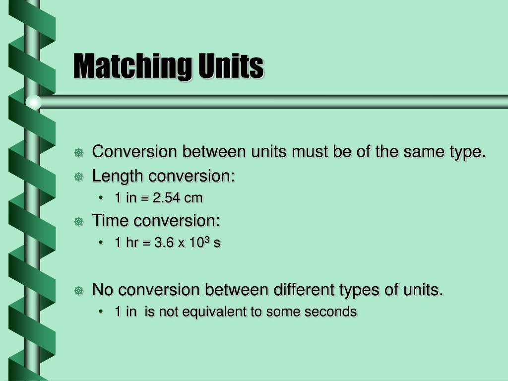 Matching Units