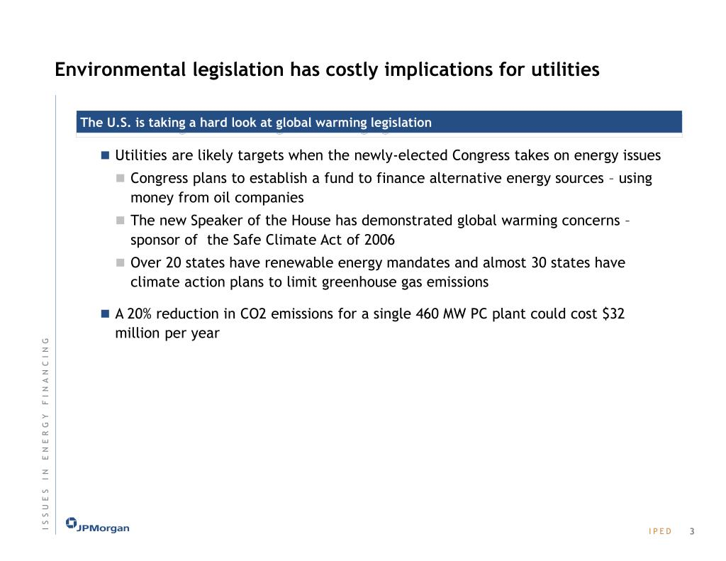 Environmental legislation has costly implications for utilities