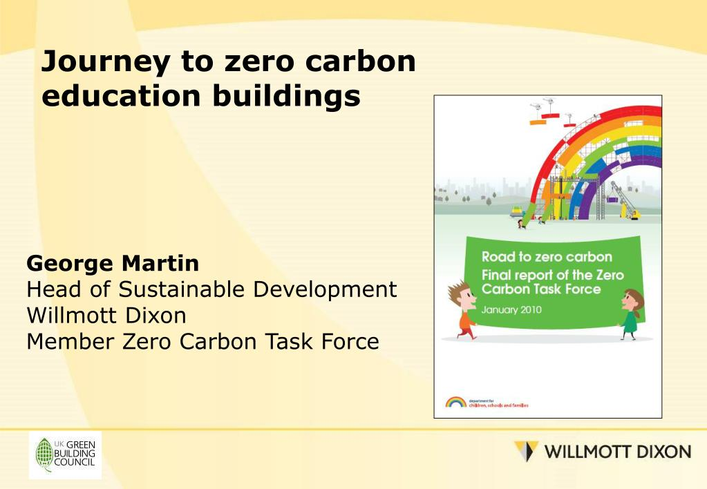 Journey to zero carbon education buildings