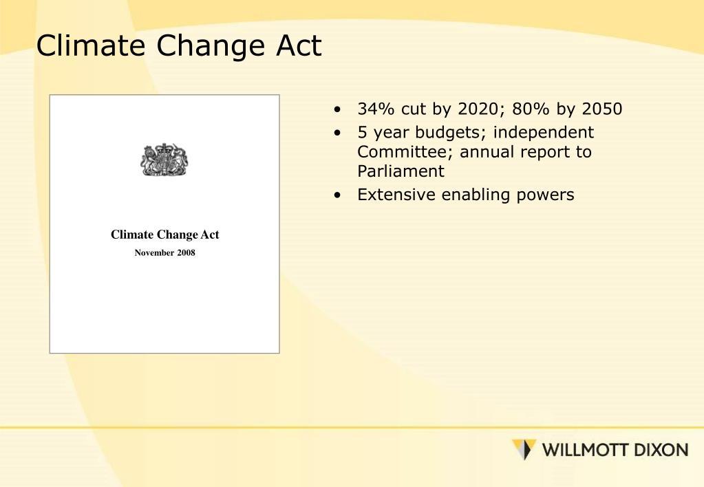 34% cut by 2020; 80% by 2050