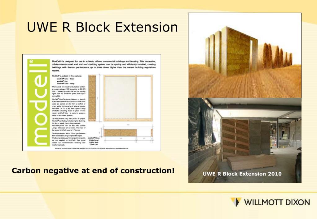 UWE R Block Extension