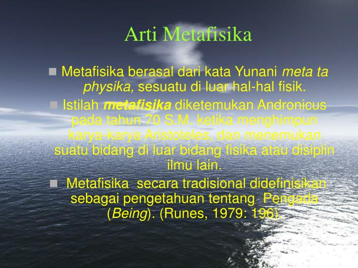 Arti Metafisika