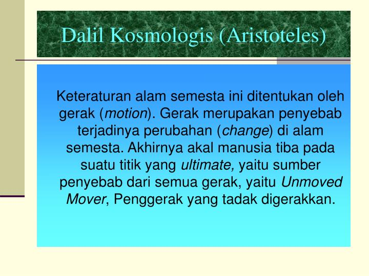 Dalil Kosmologis (Aristoteles)