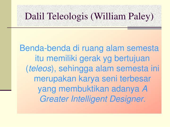 Dalil Teleologis (William Paley)