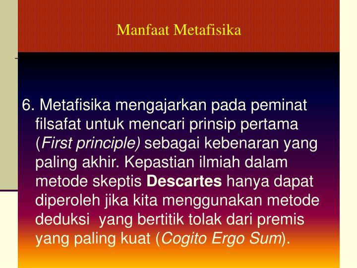Manfaat Metafisika