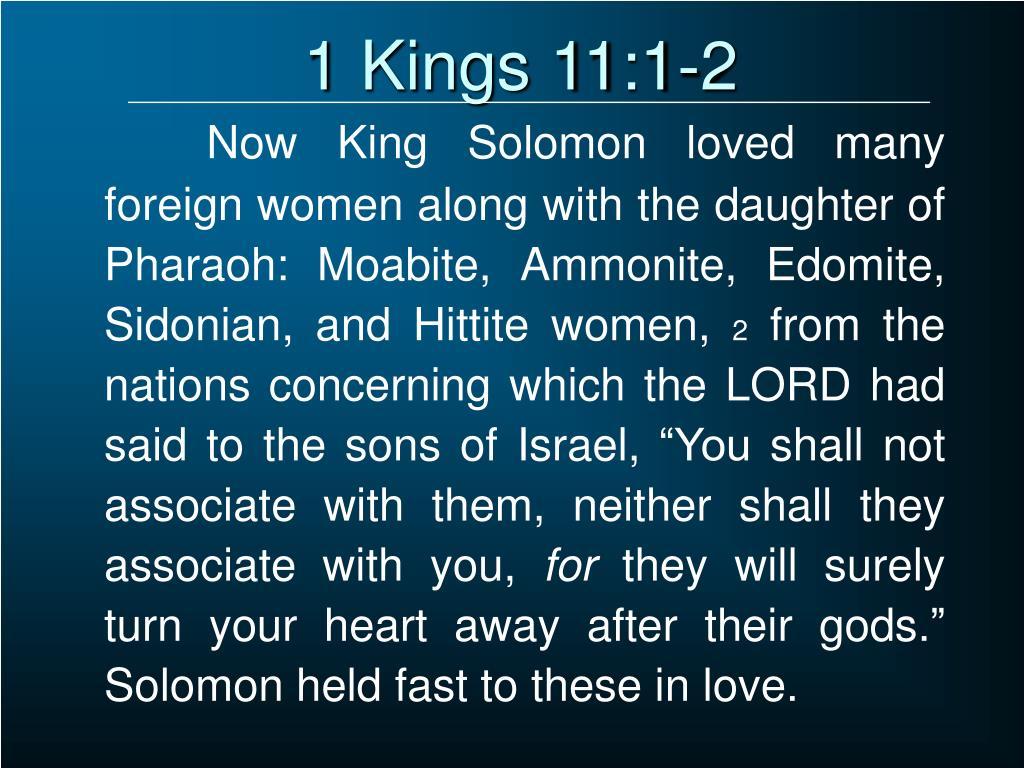 1 Kings 11:1-2