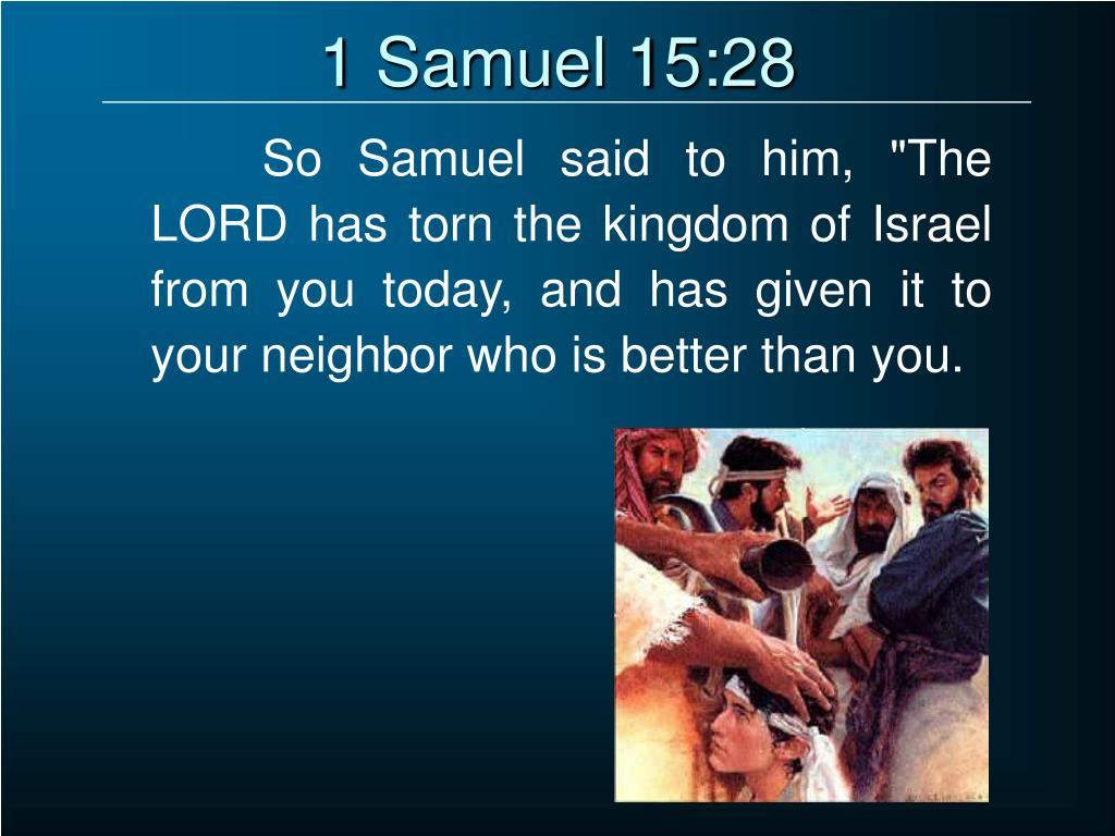 1 Samuel 15:28