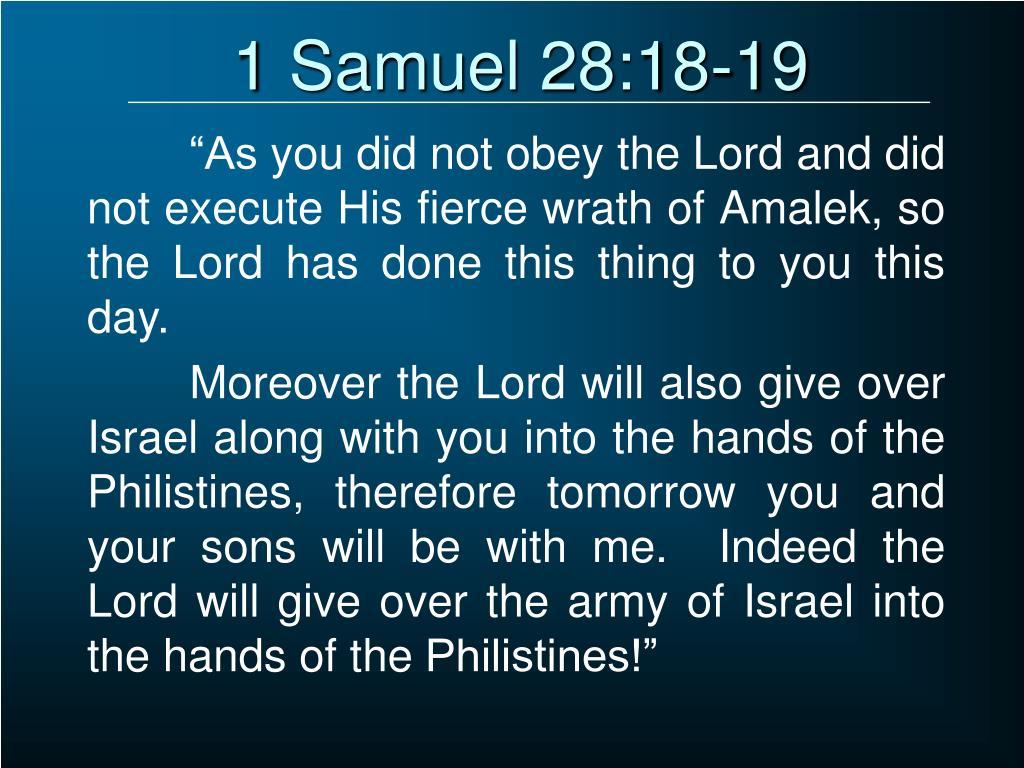 1 Samuel 28:18-19