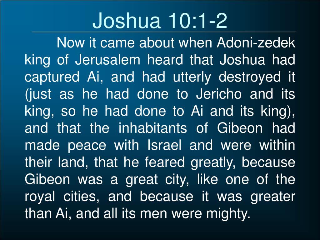 Joshua 10:1-2