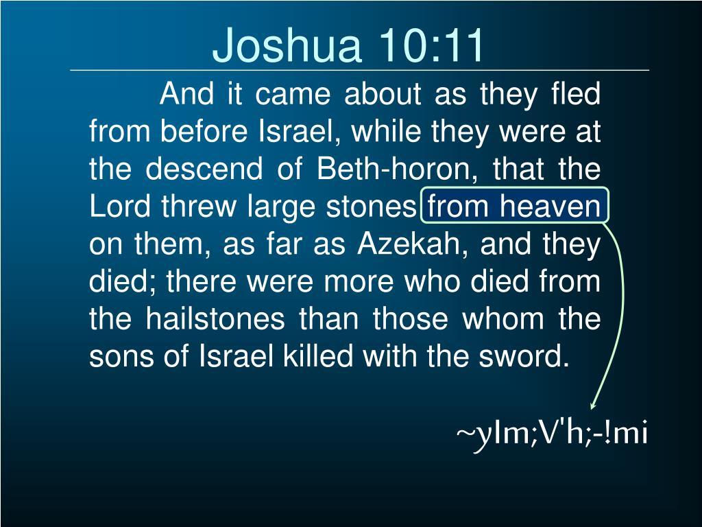 Joshua 10:11