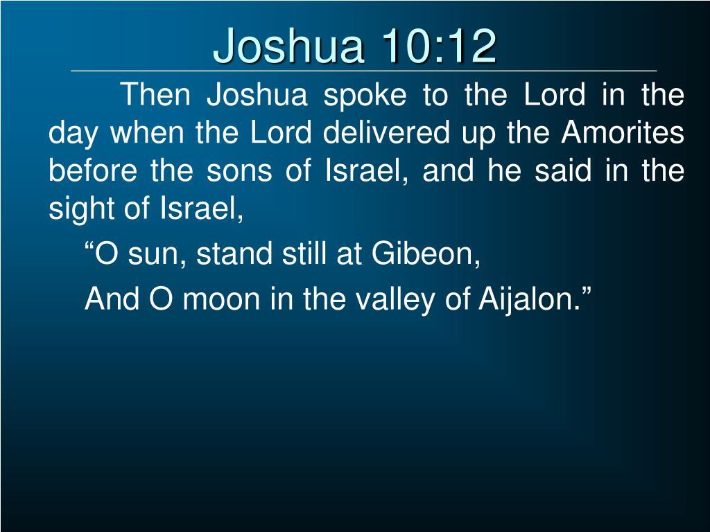 Joshua 10:12