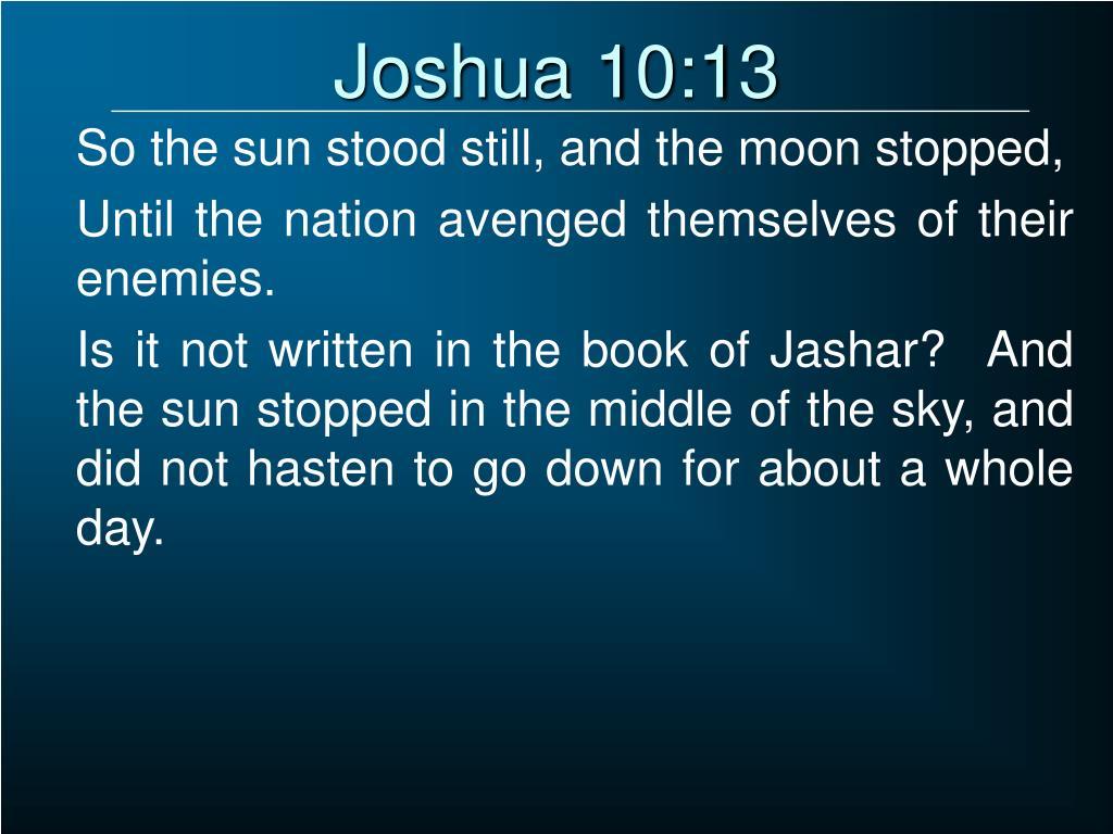 Joshua 10:13