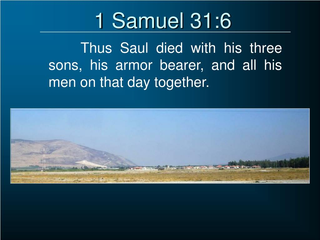 1 Samuel 31:6