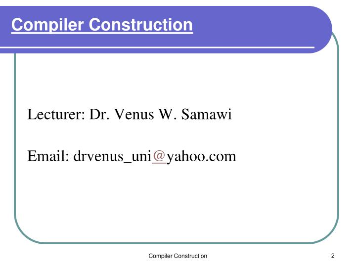 Compiler construction1